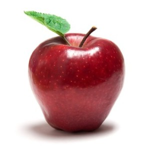 an apple for healthy fruit